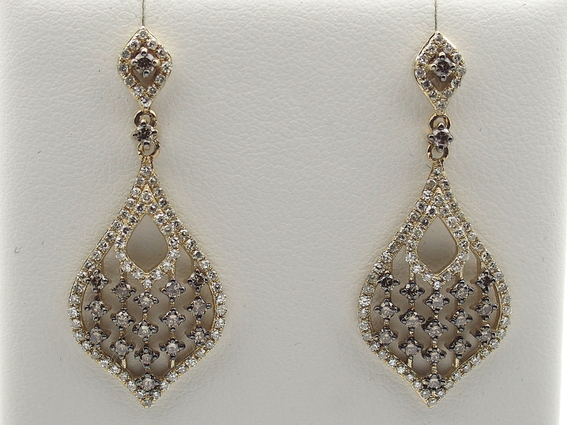 Are absolutely vintage chocolate diamond earrings information